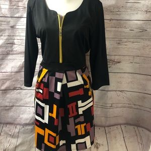 Women's zip front dress